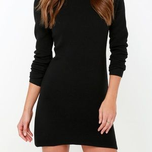 Black sweater dress